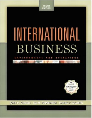 International Business : Environments and Operations: Lee H. Radebaugh;