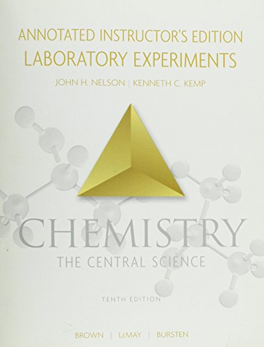 9780131464889: Chemistry the Central Science Annotated Intructor's Edition Laboratory Experiments.