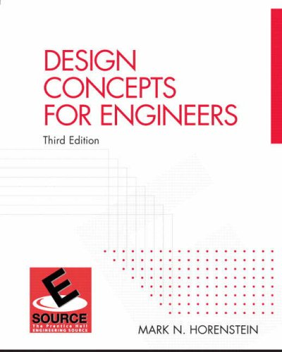 9780131464995: Design Concepts for Engineers (3rd Edition)