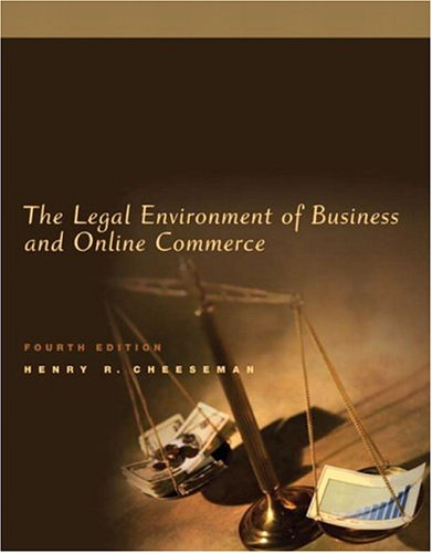 9780131465336: Legal Environment of Business and Online Commerce, The (4th Edition)