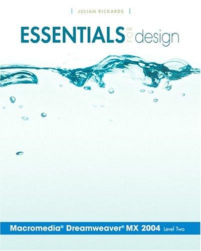 9780131468344: Essentials for Design Macromedia Dreamweaver MX 2004- Level 2