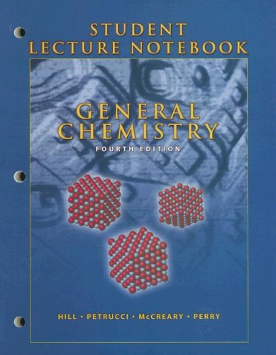 9780131469969: General Chemistry, Student Lecture Notebook ,4th Edition