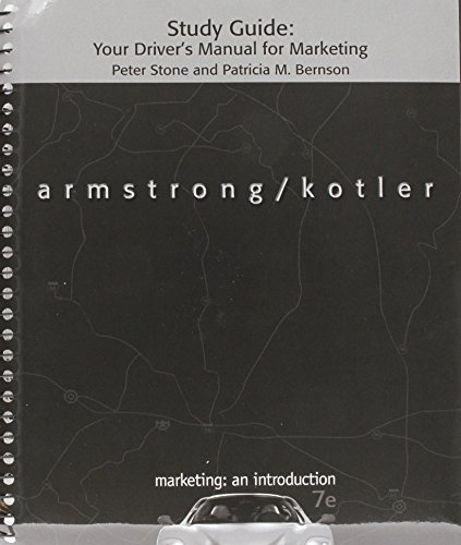 Student Study Guide for Marketing: An Introduction: Gary Armstrong
