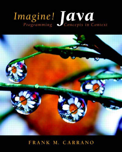 9780131471061: Imagine! Java: Programming Concepts in Context