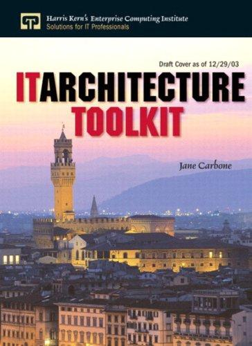 9780131473799: IT Architecture Toolkit (Enterprise Computing)