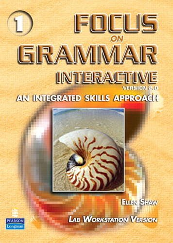 9780131474789: Focus on Grammar Introductory