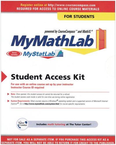 9780131478947: My Mathlab Student Version, 4th edition