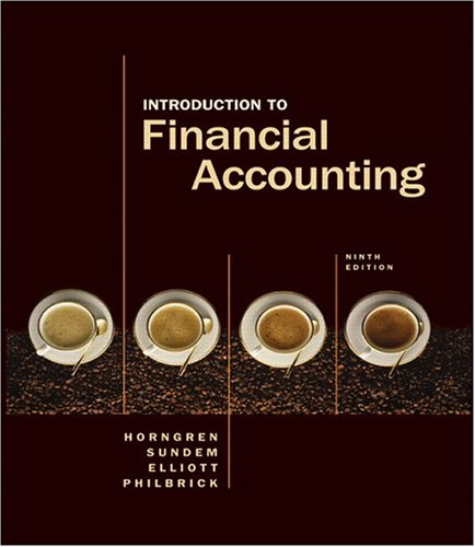 9780131479722: Introduction to Financial Accounting (Charles T Horngren Series in Accounting)
