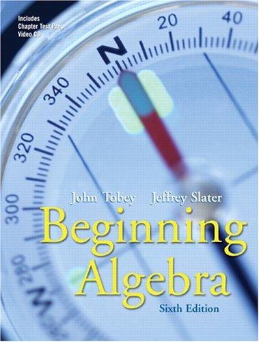 9780131482876: Beginning Algebra (6th Edition)