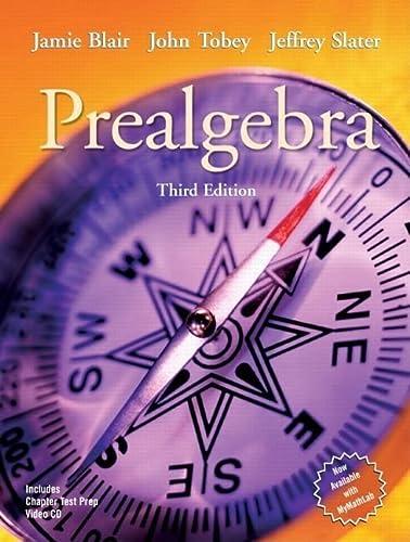 9780131482982: Prealgebra (3rd Edition)