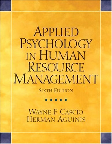 9780131484108: Applied Psychology in Human Resource Management: United States Edition (Alternative Etext Formats)