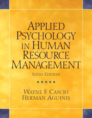 9780131484108: Applied Psychology in Human Resource Management (Alternative Etext Formats)