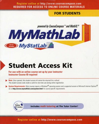 9780131486911: MyMathLab/MyStatLab: Student Version