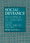 9780131487192: Social Deviance: Readings in Theory and Research