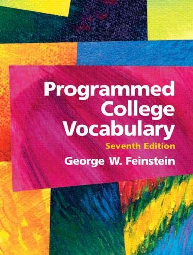 9780131487666: Programmed College Vocabulary