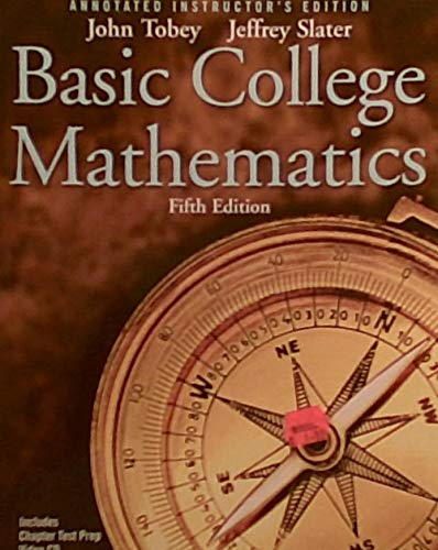 9780131490604: BASIC COLLEGE MATHEMATICS ( INSTRUCTOR'S MANUAL WITH TESTS)