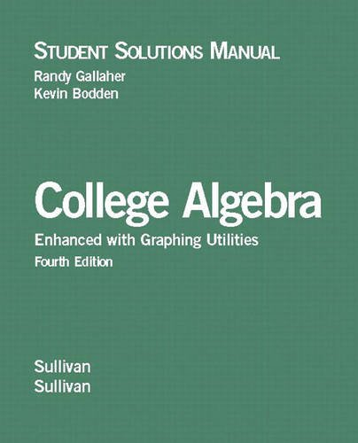 9780131491076: College Algebra: Student Solutions Manual