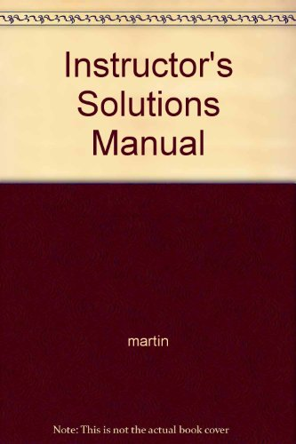 9780131491274: Instructor's Solutions Manual