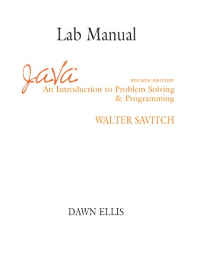 9780131492233: Java: Lab Manual: An Introduction to Problem Solving and Programming
