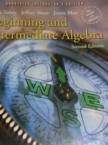 9780131492288: Beginning And Intermediate Algebra, Annotated Instructor's Edition, 2nd Edition