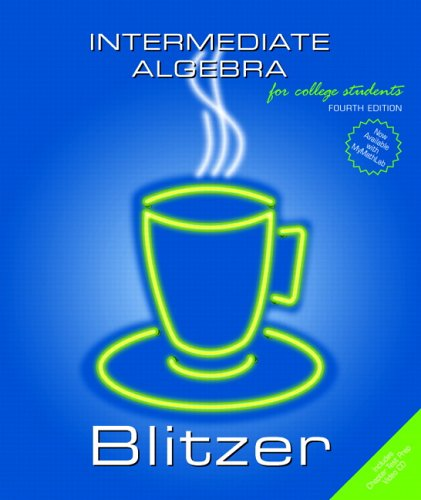 9780131492578: Intermediate Algebra for College Students
