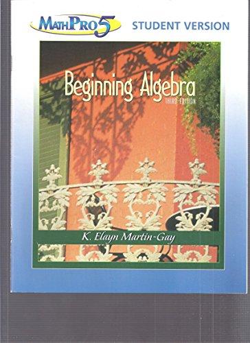 9780131493391: Beginning Algebra: Student Solutions Manual