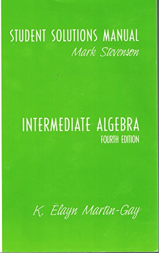 9780131493537: Intermediate Algebra: Student Solutions Study Pack