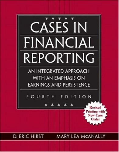 9780131494480: Cases in Financial Reporting
