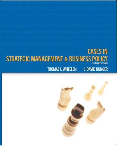 9780131494602: Cases In Strategic Management and Business Policy