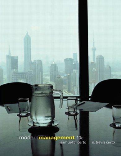 9780131494701: Modern Management: United States Edition