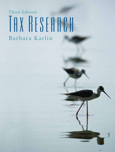 9780131496897: Tax Research (3rd Edition)