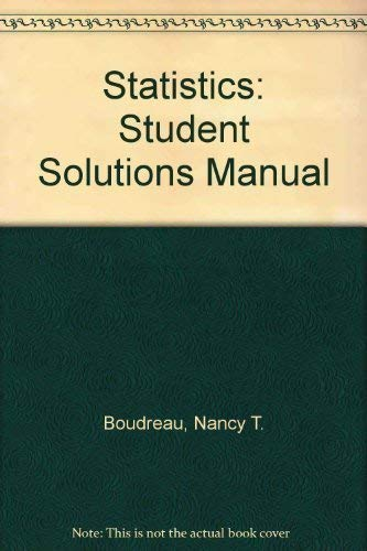 9780131498211: Student Solutions Manual: Statistics, 10th Edition