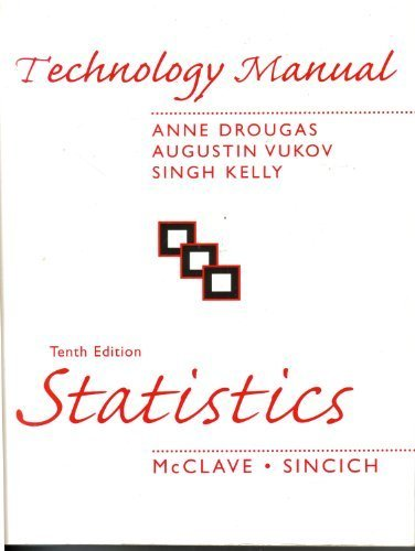 Technology Manual with CD for Statistics 10e: Drougas, Anne