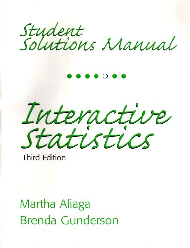 9780131498372: Student Solutions Manual for Interactive Statistics