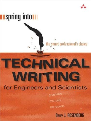 9780131498631: Spring into Technical Writing: For Engineers and Scientists