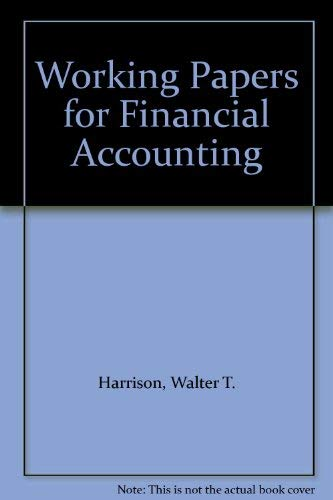 9780131499508: Working Papers for Financial Accounting