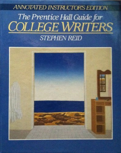 9780131501607: The Prentice Hall Guide for College Writers