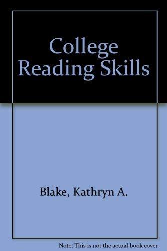 9780131502369: College Reading Skills