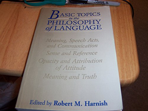 9780131505094: Basic Topics in the Philosophy of Language