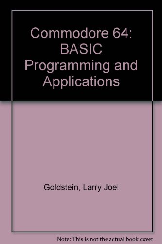 9780131521339: Commodore 64: BASIC Programming and Applications