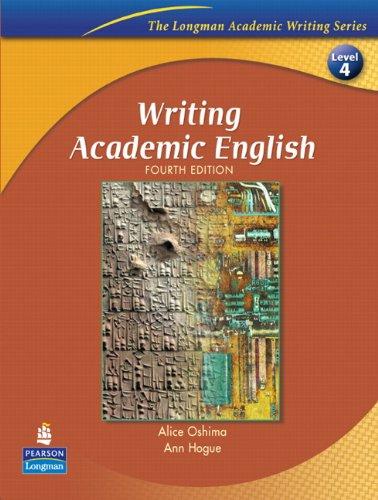 9780131523593: Writing Academic English (Longman Academic Writing Series)