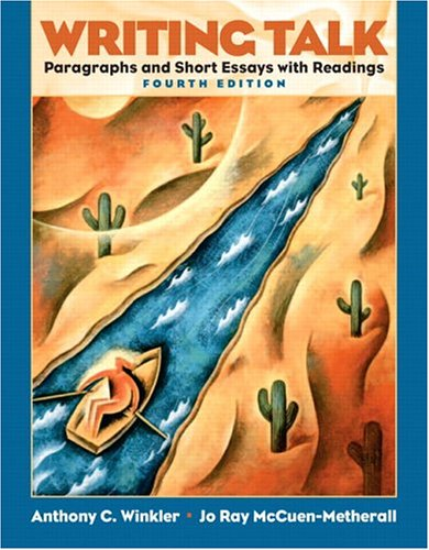 9780131523685: Writing Talk: Paragraphs and Short Essays with Readings