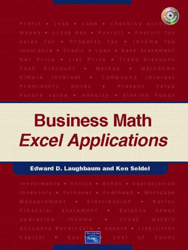 9780131526822: Business Math Excel Applications