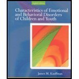 9780131529571: Characteristics of Emotional and Behavioral Disorders of Children and Youth