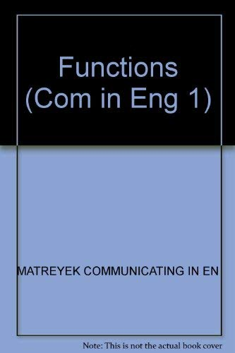 9780131531239: Functions (Com in Eng 1)