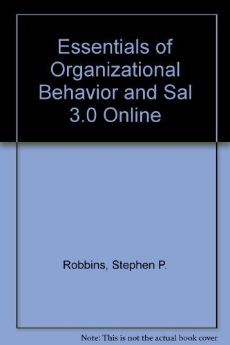 9780131531956: Essentials of Organizational Behavior and Sal 3.0 Online