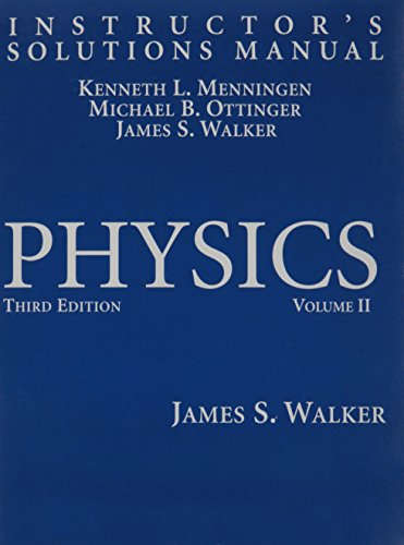 9780131536326: Instructor's Solutions Manual for Physics, Vol. 2, 3rd Edition