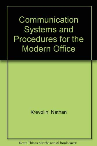 9780131536685: Communication Systems and Procedures for the Modern Office
