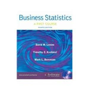 9780131536890: Business Statistics: First Course