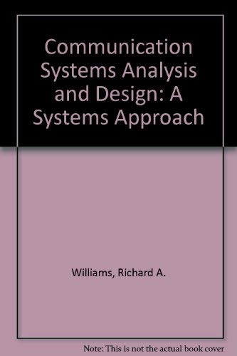 9780131537774: Communication Systems Analysis and Design: A Systems Approach
